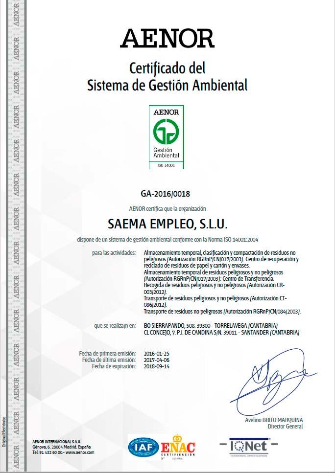 isosaema14001