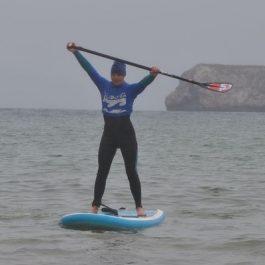 Practicando el surf