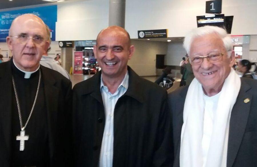 Tocas Castillo con Carlos Osoro y el padre Angel