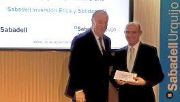 Amica en la entrega de aportaciones del Banco Sabadell Urquijo