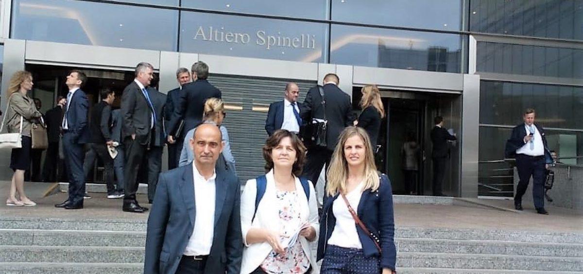 Representantes de Amica en el Parlamento Europeo