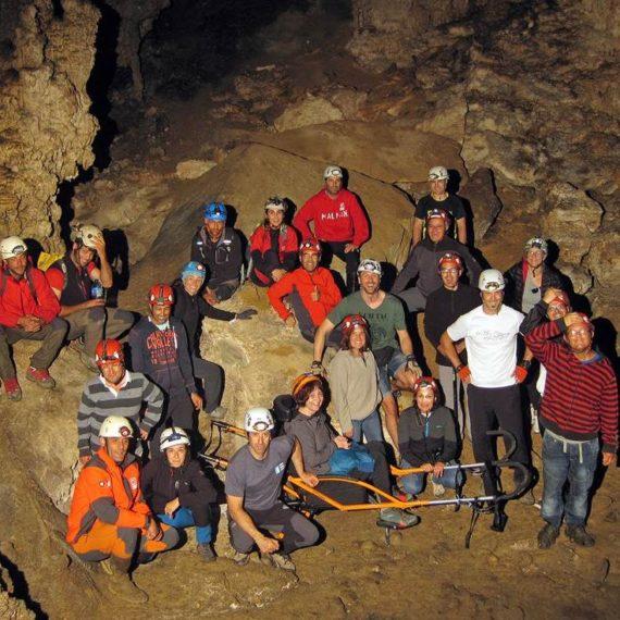 Dentro de la cueva Coventosa