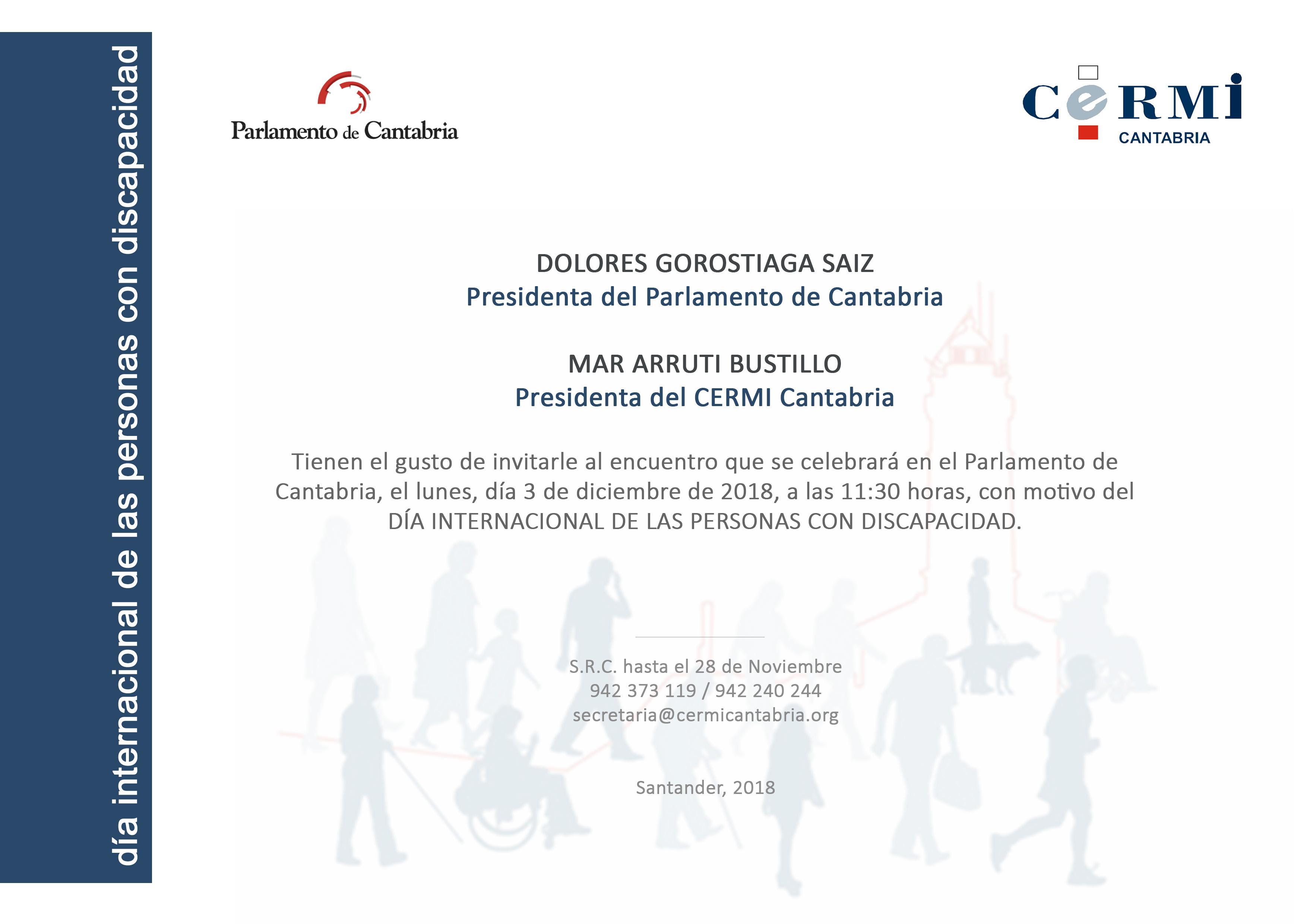 3 Diciembre 2018: Día Internacional de las Personas con Discapacidad
