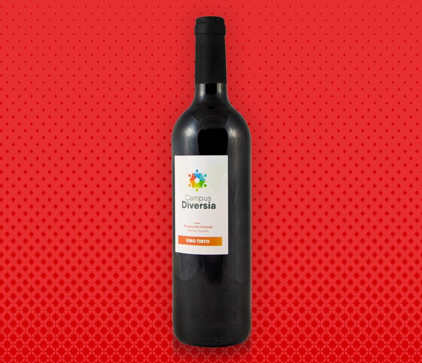 Botella de vino tinto Solidaria de Amica