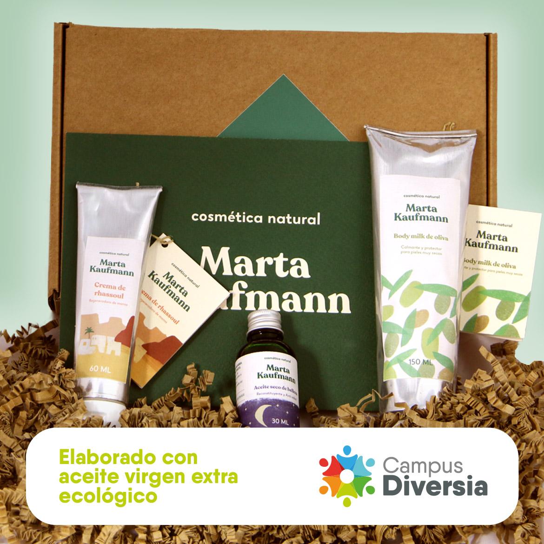 Set de productos de cosmética natural Marta Kauffman