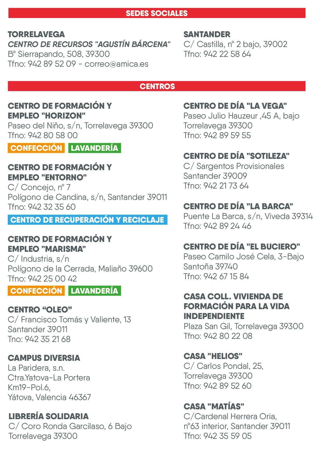 centros DE AMICA