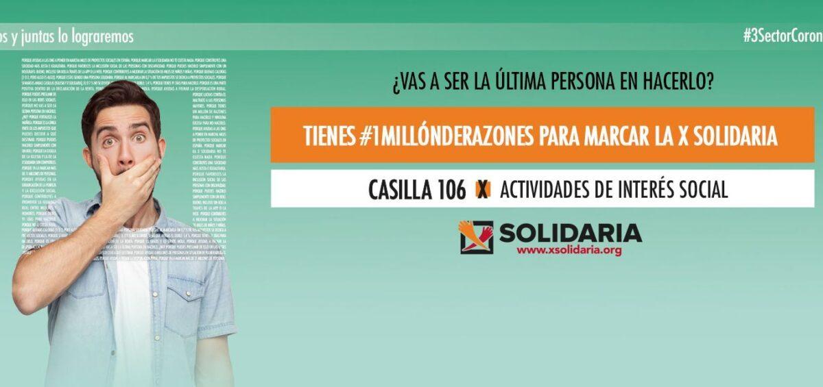 """Marcar la """"X Solidaria"""" en la declaración de la renta: un gesto de compromiso y solidaridad ciudadana en tiempos de crisis"""