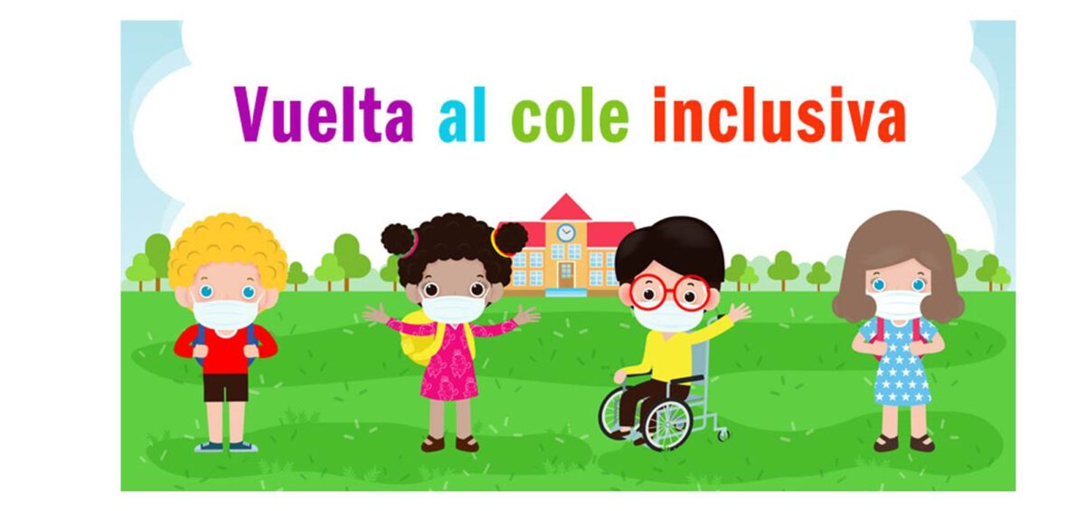 cartel vuelta al cole inclusiva