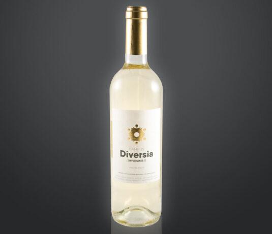 Botella de vino blanco ecológico solidaria de amica - D.O. Utiel-Requena