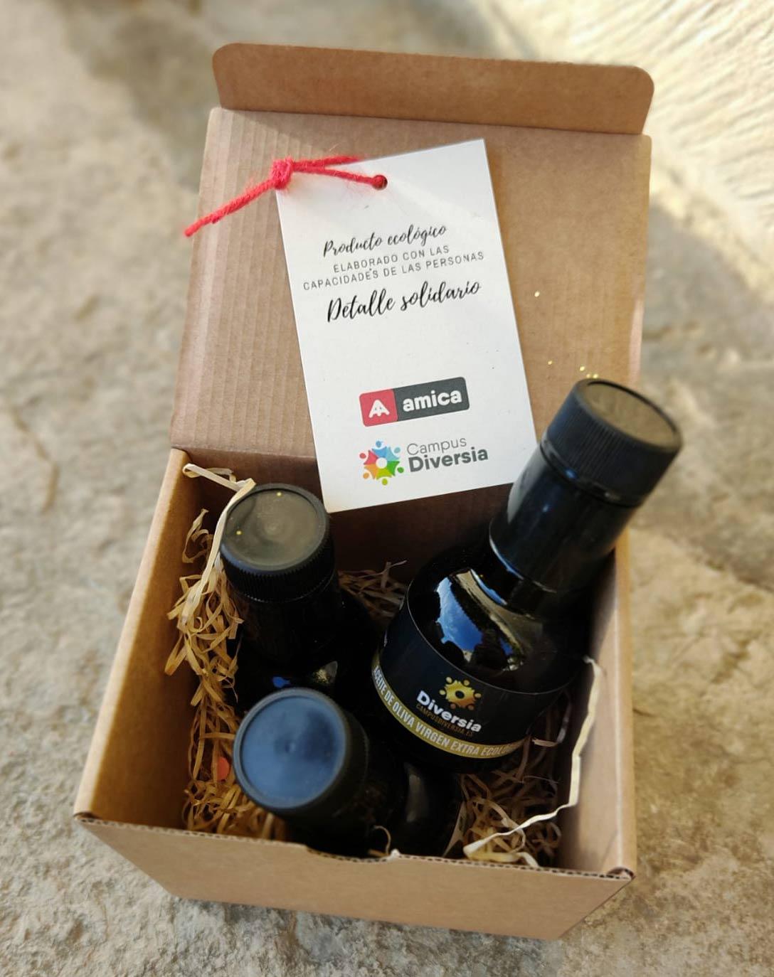 Lote de 3 botellas de Aceite de oliva virgen extra solidarias de Amica 250ml