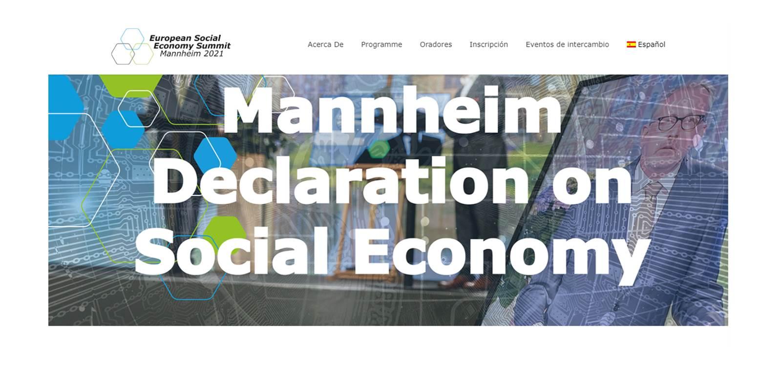 Declaración de Mannheim refuerza el papel de la Economía Social