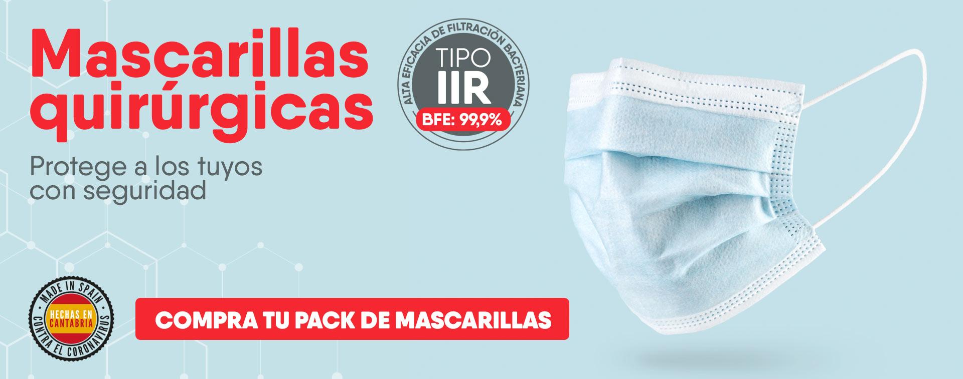 Mascarillas quirurgicas tipo IIR homologadas Amica