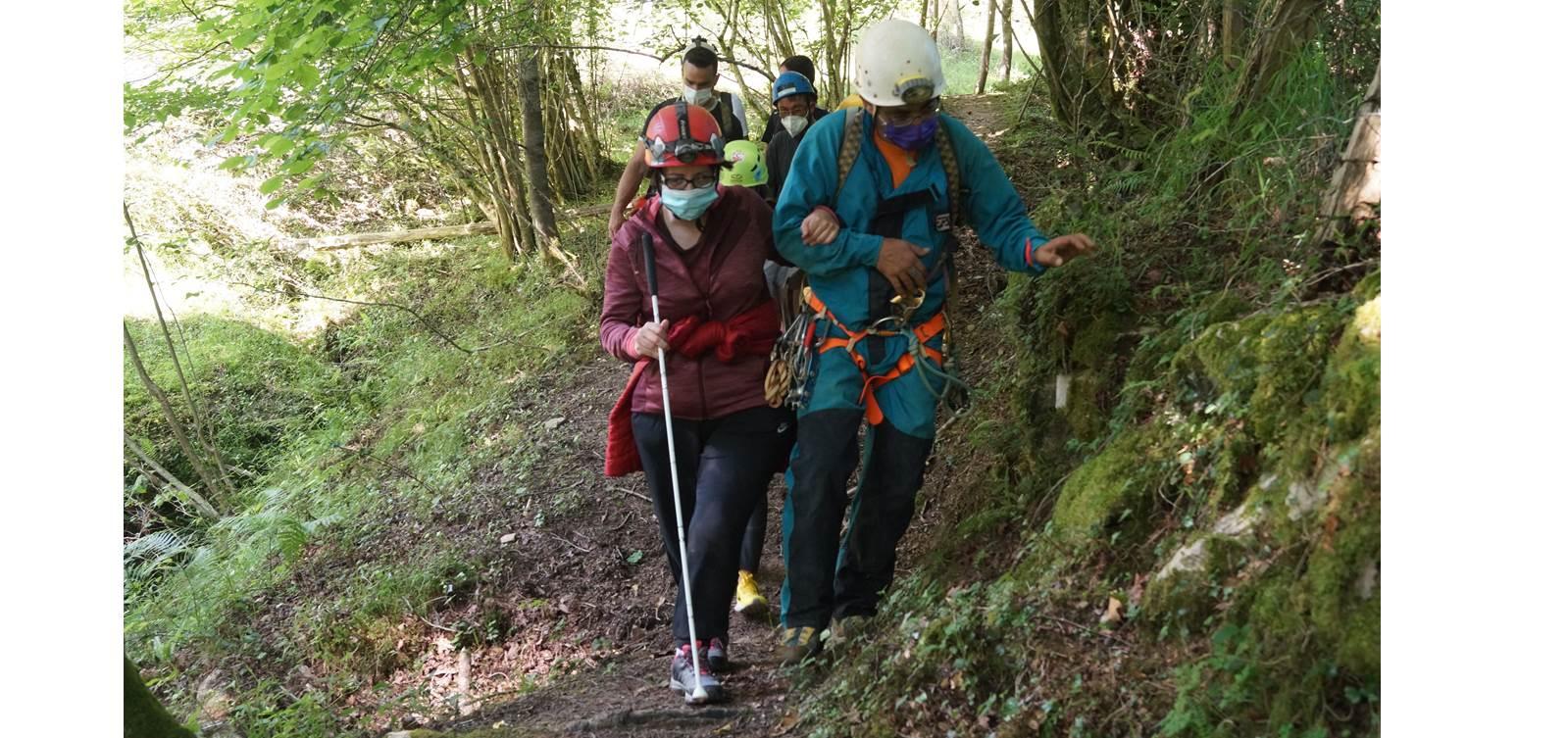 curso de espeleología Amica-personas-con-discapacidad