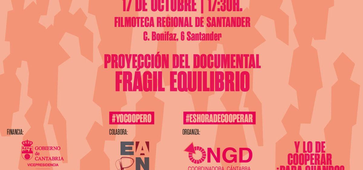 """Día Mundial contra la Pobreza. Proyección en la Filmoteca de film """"Frágil Equilibrio"""""""